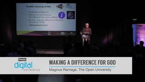 Making a difference for God // Magnus Ramage // PremDac16