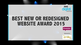 Thumbnail for entry Best New or Redesigned Website Award // Premier Digital Awards 2015