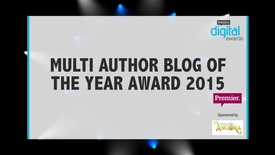Thumbnail for entry Multi Author Blog of the Year Award // Premier Digital Awards 2015