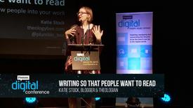 Thumbnail for entry Writing so that people want to read // Katie Stock // PremDac17