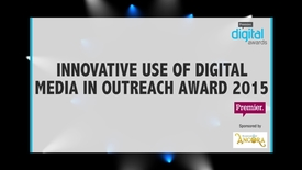Thumbnail for entry Innovative Use of Digital Media in Outreach Award // Premier Digital Awards 2015