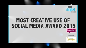 Thumbnail for entry Most Creative Use of Social Media Award // Premier Digital Awards 2015