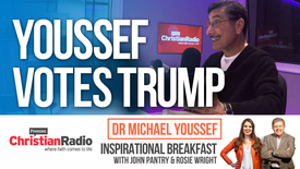 "Thumbnail for entry Exclusive: Dr Michael Youssef will vote for ""the Trump ticket"" // Inspirational Breakfast"