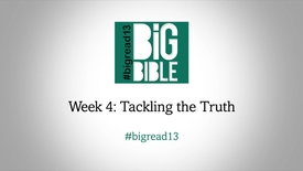 Lent: 'Tackling the Truth' with Dr Rowan Williams #BigRead13