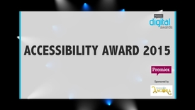 Thumbnail for entry Accessibility Award // Premier Digital Awards 2015