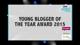 Thumbnail for entry Young Blogger of the Year Award // Premier Digital Awards 2015