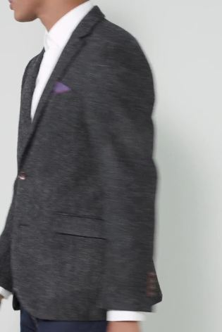 Charcoal Signature Herringbone Tailored Fit Harris Tweed Jacket