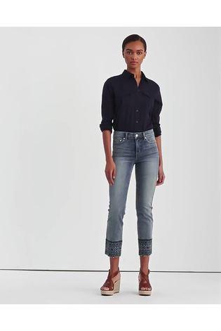 Lauren Ralph Lauren Mid Indigo Straight Fit Ankle Grazer Jeans