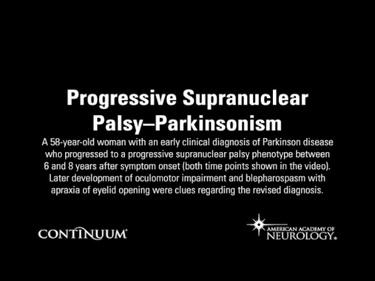 Progressive Supranuclear Palsy–Parkinsonism