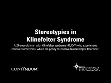 Stereotypies in Klinefelter Syndrome