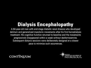 Dialysis Encephalopathy