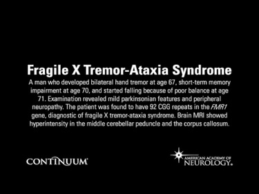 Fragile X Tremor-Ataxia Syndrome