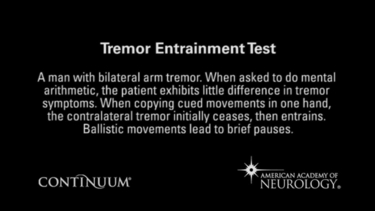 Tremor entrainment test.