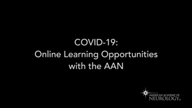COVID19: Online Learning Opportunities from the AAN