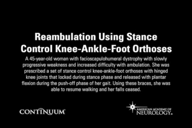 Reambulation Using Stance Control Knee-Ankle-Foot Orthoses