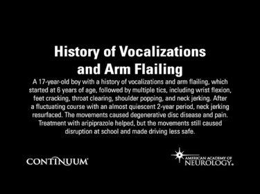History of Vocalizations and Arm Flailing