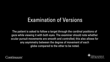 Examination of Versions