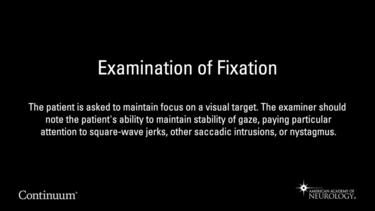 Examination of Fixation
