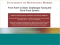Image for From Farm to Store: Challenges Facing Rural Food Systems