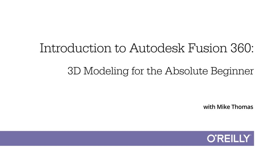 Introduction to Autodesk Fusion 360