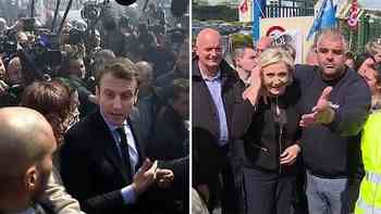 Das Theater von Amiens: Selfies mit Le Pen, Pfiffe für Macron