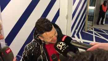 Champagner-Dusche für Renato Steffen