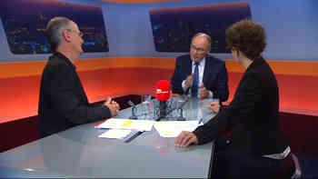 Waren sich alles andere als einig: SVP-Nationalrat Hansjörg Knecht und SP-Grossrat Max Chopard streiten im «TalkTäglich» über die Energiestrategie.