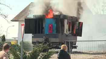Brand in Rickenbach: Luftkompressor fängt Feuer