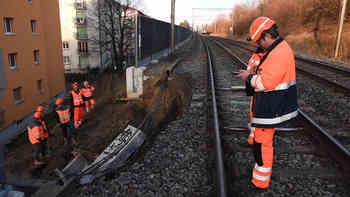 Erdrutsch bei Lausanne behindert Zugverkehr