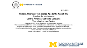 Central America from the Ice Age to the Age of ICE