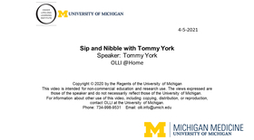 Sip and Nibble with Tommy York