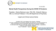Mental Health Perspectives During the COVID-19 Pandemic