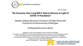 The Economy: How Long Will It Take to Recover in Light of COVID-19 Pandemic?