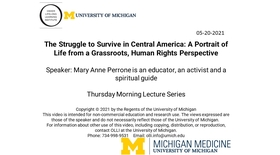 The Struggle to Survive in Central America: A Portrait of Life from a Grassroots, Human Rights Perspective