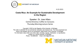 Costa Rica: An Example for Sustainable Development in the Region