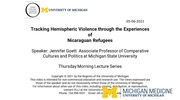 Tracking Hemispheric Violence through the Experiences of Nicaraguan Refugees