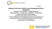 Business in the Time Of COVID: Current Challenges and Future Perspectives