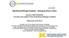 Washtenaw Refugee Coalition – Refugees Given a Voice