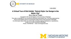 "A Virtual Tour of DIA exhibit, ""Detroit Style: Car Design in the Motor City"""