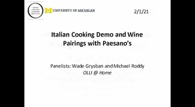 Italian Cooking Demo and Wine Pairings with Paesano's