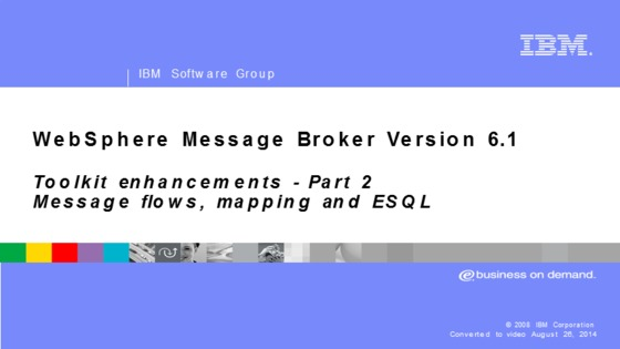 Websphere Message Broker Esql Pdf
