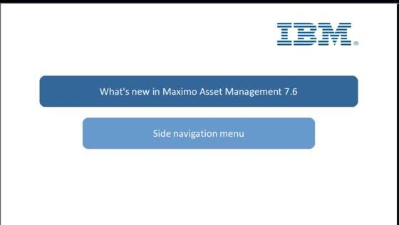 Side navigation menu setup - IBM MediaCenter