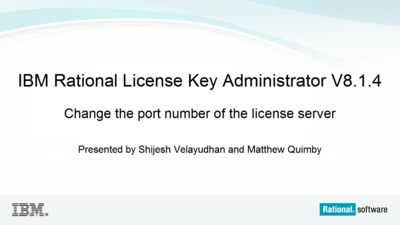Change the port number of the license server - IBM MediaCenter