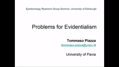 Tommaso Piazza: Problems for Evidentialism - Media Hopper Create ...