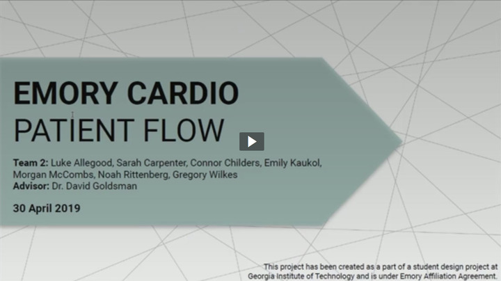 Start Video Playback Finalist - Emory Cardio Patient Flow