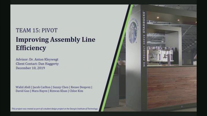 Start Video Playback   PIVOT - Improving Assembly Line Efficiency