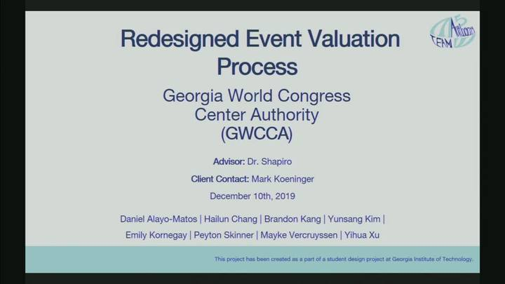 Start Video Playback  GWCCA - Redesigned Event Valuation Process