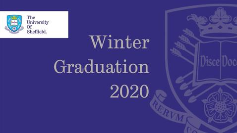 Thumbnail for entry 14 January 2020 12.00 Winter Graduation