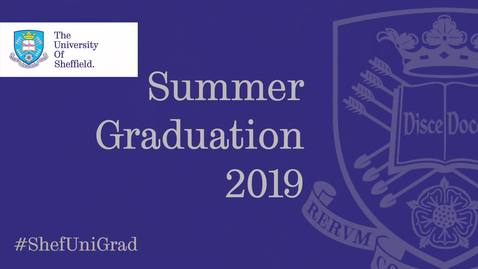 Thumbnail for entry Summer Graduation 2019 - Wednesday 17 July 12.15