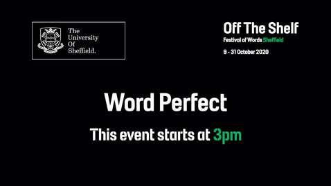 Thumbnail for entry Word Perfect | Live In Conversation | Off the Shelf